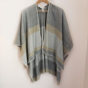 Gray and Taupe Open Duster Wrap